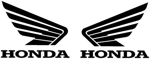 2x Honda wings, alas, color y tamaño a elegir