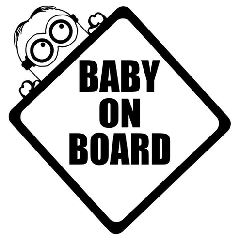Baby on board Minion, pegatina, tamaño y color a elegir.