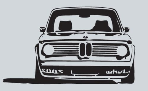 BMW 2002 turbo, pegatina, tamaño y color a elegir