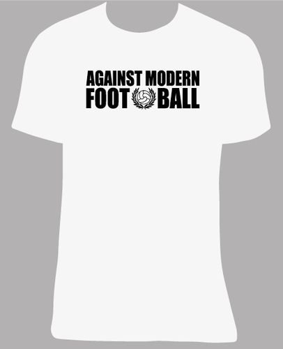 Camiseta Against modern football, tallas y colores a elegir.