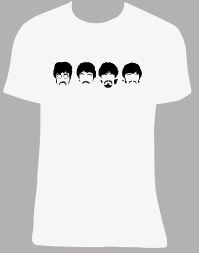 Camiseta The Beatles, tallas y colores a elegir.