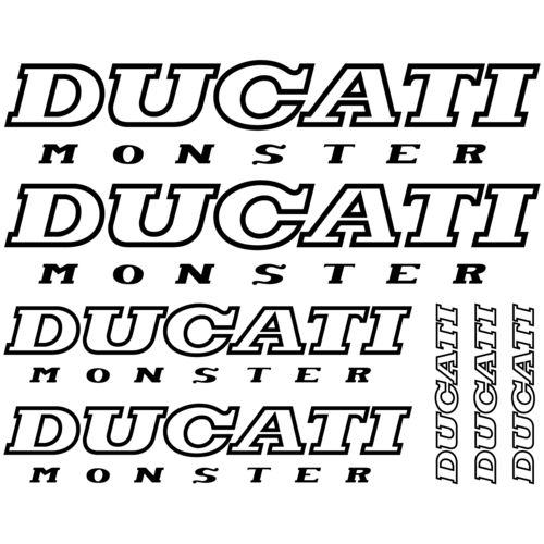 Kit de pegatinas Ducati Monster, color a elegir