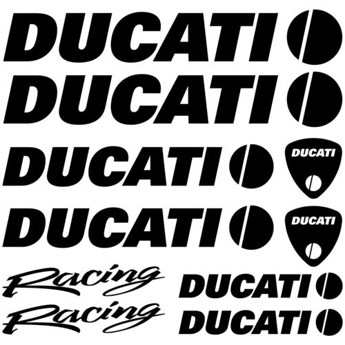 Kit de pegatinas Ducati Racing, color a elegir