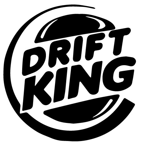 Drift king, drifting, pegatina, color y tamaño a elegir