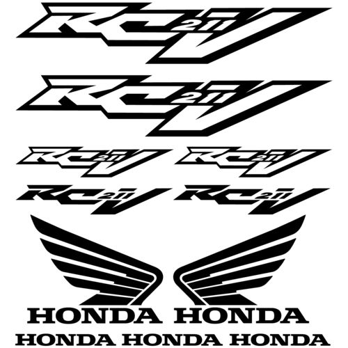 Kit de pegatinas Honda RC211V, color a elegir