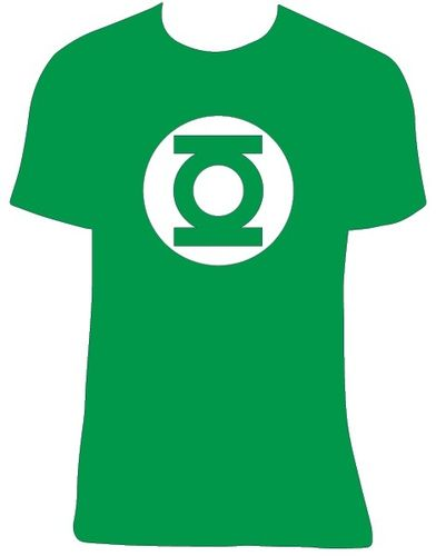 Camiseta The Big Bang Theory Linterna Verde. Talla a elegir