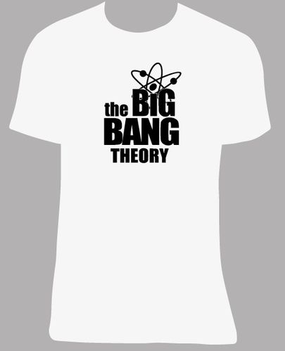 Camiseta The Big Bang Theory, tallas y colores a elegir.
