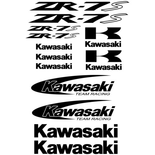 Kit de pegatinas Kawasaki ZR-7S, color a elegir