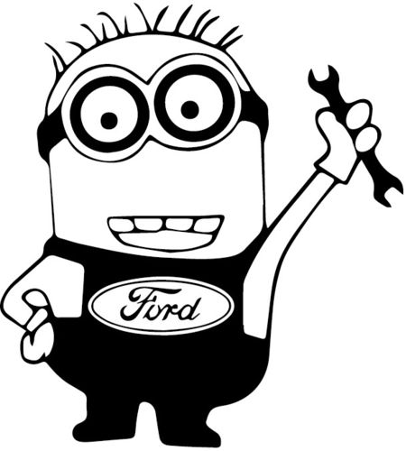 Minion Ford, pegatina, color y tamaño a elegir