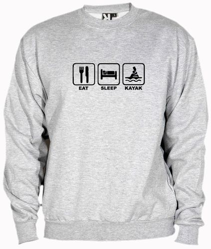 Sudadera eat sleep kayak, talla y color a elegir.